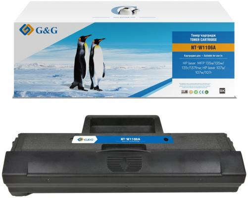 Картридж лазерный G&G NT-W1106A черный (1000стр.) для HP Laser 107a/107r/107w/135a MFP/135r MFP/135w MFP/137fnw MFP