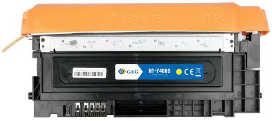 Картридж лазерный G&G NT-Y406S желтый (1000стр.) для Samsung CLP-360/365/CLX-3300/3305