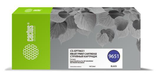 Фото - Картридж струйный Cactus CS-EPT9651 черный (187мл) для Epson WorkForce Pro WF-M5299DW/M5799DWF принтер epson workforce pro wf 6090dw c11cd47301 a4