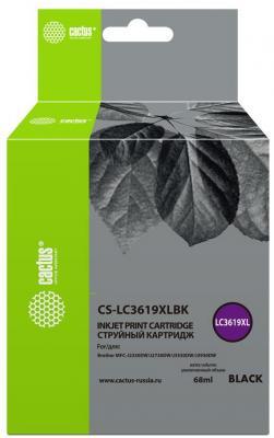 Картридж струйный Cactus CS-LC3619XLBK черный (68мл) для Brother MFC-J2330DW/J2730DW/J3530DW/J3930DW