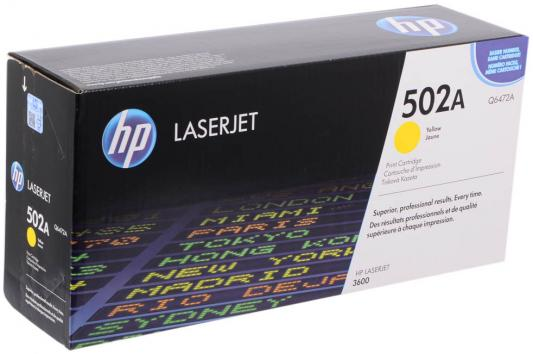 Тонер-картридж HP Q6472A yellow for Color LaserJet 3600 hp 502a q6472a