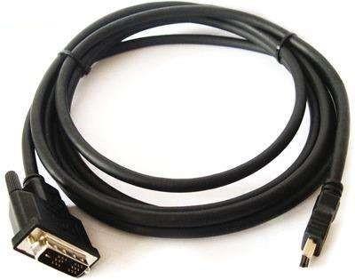 Переходной кабель Kramer Electronics C-HM/DM-50 HDMI-DVI с золотым покрытием разъема (Вилка - Вилка), 15.2 м