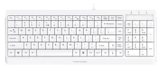 Клавиатура A4Tech Fstyler FK15 белый USB
