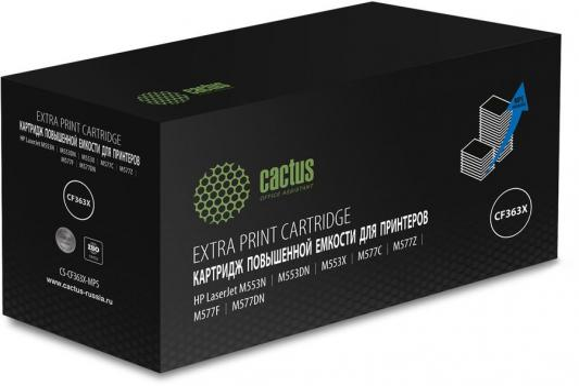 Картридж лазерный Cactus CS-CF363X-MPS пурпурный (18000стр.) для HP CLJ M552dn/M553dn/M553N/M553x