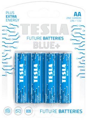 Батарейки Tesla AA BLUE+ 4 шт (8594183392165) батарейки smartbuy sbbz 2a04b aa 4 шт