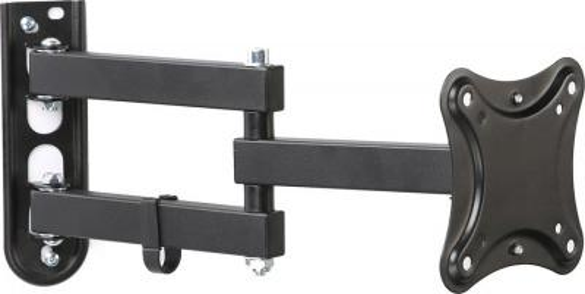 Фото - Кронштейн для телевизора Hama R1 118153 черный 10-27 макс.15кг настенный поворот кронштейн hama h 108770 xl черный для жк тв до 50 настенный vesa 400x400 max 30 кг