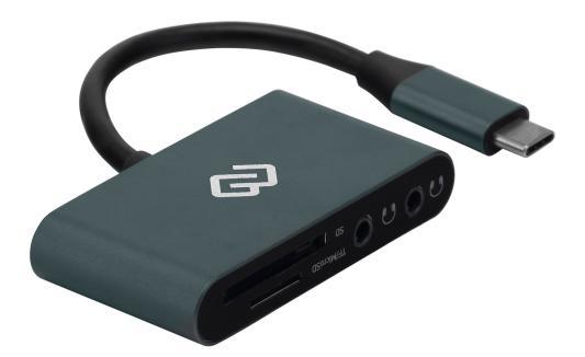 Устройство чтения карт памяти Type C Digma CR-СA2512-G серебристый