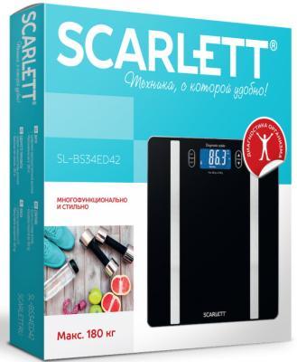 Весы напольные Scarlett SL-BS34ED42 чёрный