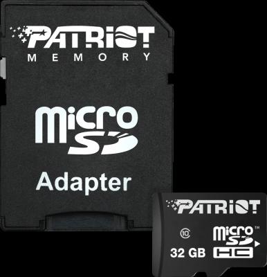 Фото - Флеш карта microSDHC 32GB Class10 Patriot (PSF32GMCSDHC10) LX MICRO SDHC with adaptor карта памяти sdhc 32gb transcend class10 uhs i