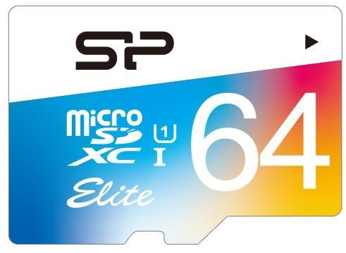 Фото - Флеш карта microSD 64GB Silicon Power Elite microSDHC Class 10 UHS-I Colorful ван карты card король kw 3008n 300mbps high power wireless usb adapter