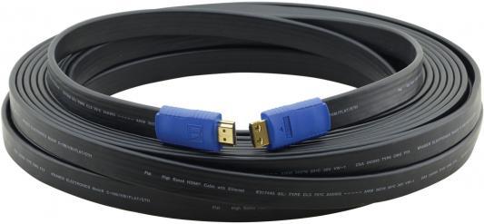 Фото - Кабель HDMI 1.8м Kramer C-HM/HM/FLAT/ETH-6 плоский черный 97-01014006 кабель hdmi 3м kramer c hm hm flat eth 10 плоский черный 97 01014010