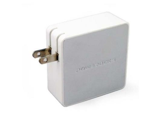Сетевое зарядное устройство с аккумулятором Powerocks Tetris универсальное с двумя USB выходами 3000mAh. Белый зарядное устройство soalr 16800mah usb ipad iphone samsug usb dc 5v computure