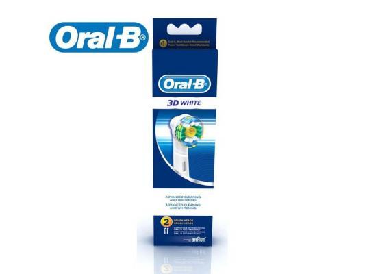 Насадка для зубной щётки Braun Oral-B 3D White EB 18P-2 2шт аксессуар braun насадка для зубных щеток oral b trizone 2 шт eb 30 2