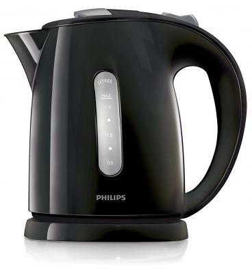 Чайник Philips HD4646/20 2400 Вт чёрный 1.5 л пластик чайник philips hd 4678 2400 1 2 л пластик белый