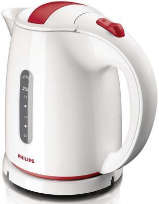 Чайник Philips HD4646/40 2400 Вт белый красный 1.5 л пластик чайник philips hd 4678 2400 1 2 л пластик белый