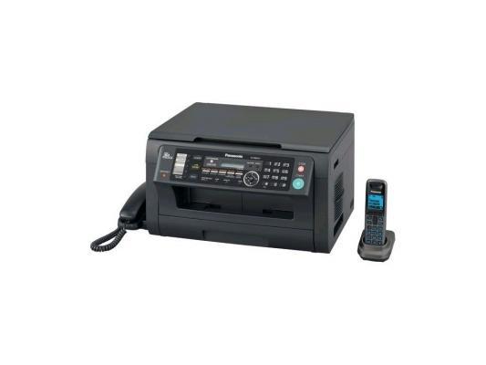 МФУ Panasonic лазерное KX-MB2051RUB (принтер/сканер/копир/факс) черное, Dect, LAN