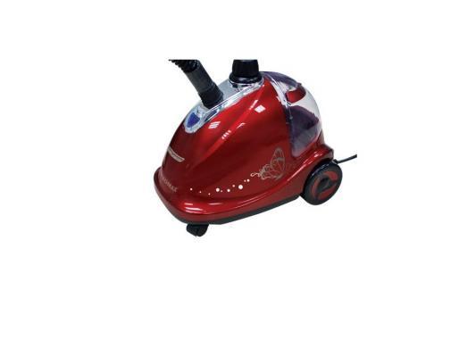 Отпариватель для одежды Kromax Odyssey Q-301, производительность пара 30 г/мин,  мощность 1500W, емкость бака 1400 мл, красный