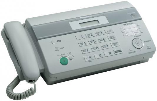 Факс Panasonic KX-FT982RUW на т/бумаге, 9600 бит/с, АОН, справ 100 аб., монитор (белый) радиотелефон dect panasonic kx tg6811rub черный