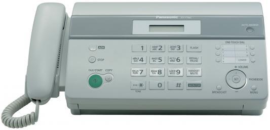 Факс Panasonic KX-FT982RUW на т/бумаге, 9600 бит/с, АОН, справ 100 аб., монитор (белый) от 123.ru