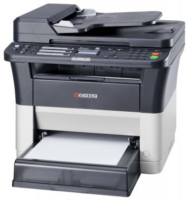 МФУ Kyocera FS-1125MFP А4, 25 ppm, 1200dpi, 25-400%, 64Mb, USB, Network, цв. сканер, факс, автоподатчик, пуск. комплект (1102M73RU0) мфу kyocera fs 1125mfp