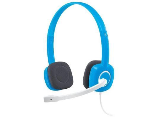 цены  Гарнитура Logitech Stereo Headset H150, Sky Blue 981-000368