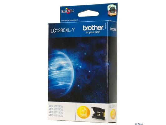 Картридж струйный Brother LC1280XLY желтый повыш.емк. для MFC-J6510DW, MFC-J69010DW replacement ink cartridge for brother mfc j6510dw more