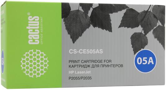 Тонер-картридж Cactus CS-CE505AS black (2300 стр.) для HP LaserJet P2055/P2035 logic main board use for hp laserjet p2055d p2055 2055d 2055 formatter board cc527 60001 mainboard