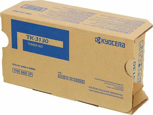 Тонер-картридж Kyocera TK-3130 black (25000 стр.) для FS-4200DN/FS-4300DN картридж nvprint tk 3130 для kyocera tk 3130 fs 4200dn 4300dn 25000 стр