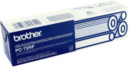 Лента для факса Brother PC72RF black (2 х 144 стр.) для FAX1280/1980/560/T72/T74/T76/T78/T84/T86/727/737MC brother tze325 black white лента для матричного принтера 9 мм