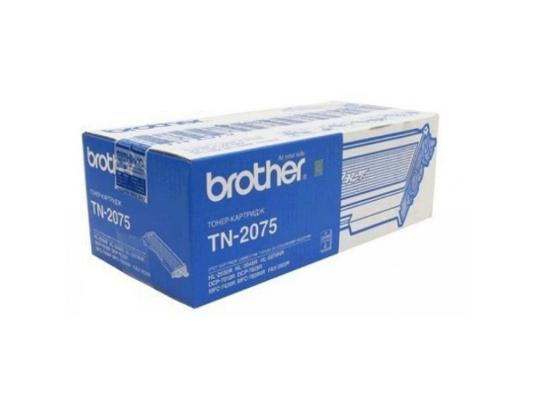 Тонер-картридж Brother TN2075 black (2500 стр.) для HL-2030/HL-2040/HL-2040R/HL-2070NR/HL-2070N/DCP-7010/DCP-7010R/DCP-7025R/MFC-7420/MFC-7820N картридж profiline pl tn 2075 for brother hl 2030 2040 2045 2050 2070 2075n dcp 7010 7020 7025 fax 2820 2920 mfc 7220 7225 7420 7820 7820n 2500 копий