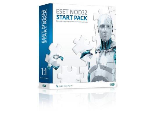 Антивирус Eset NOD32 Strart Pack- базовый комплект безопасности компьютера,  лицензия на 1 год на 1ПК (NOD32-ASP-NS(BOX)-1-1)