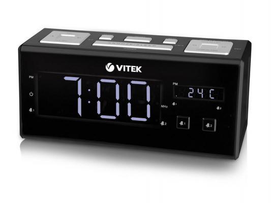 3523(ВК) Радиочасы Vitek (ЖК дисп.FM тюн.2 буд)
