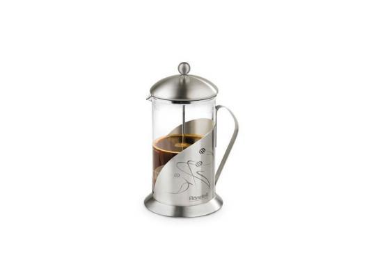 Френч-пресс Rondell Tasse RDS-102 серебристый 0.8 л металл/стекло чайник заварочный rondell tasse rds 101 0 6л