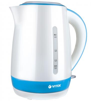 Чайник Vitek VT-1128-02 2200 Вт белый 1.7 л пластик чайник vitek vt 7008 tr 2200 вт чёрный 1 7 л пластик стекло