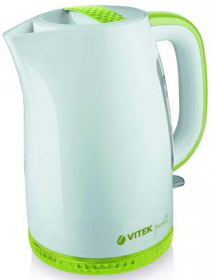 Чайник Vitek VT-1175 G 2200 Вт белый зелёный 1.7 л пластик
