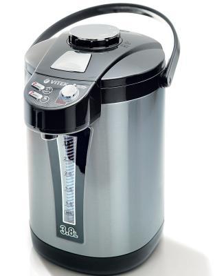 Термопот Vitek VT-1189 ВК 750 Вт чёрный серый 3.8 л металл термопот vitek vt 1188 gy 750 вт чёрный серый 3 8 л пластик