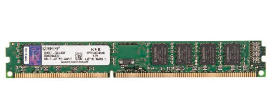 Оперативная память DIMM DDR3 Kingston 4Gb (pc-10600) 1333MHz (KVR13N9S8/4) оперативная память 2gb pc3 10600 1333mhz ddr3 dimm kingston kvr13n9s6 2
