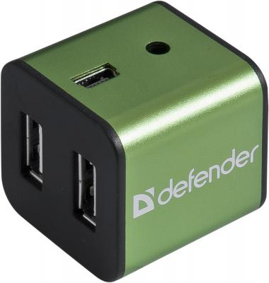 Концентратор USB Defender Quadro IROn USB 2.0, 4 порта, метал. корпус концентратор usb 2 0 defender quadro swift 7 x usb 2 0 черный 83203