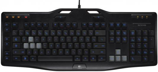 Клавиатура Logitech G105 USB черный 920-005056 920 008868 клавиатура logitech rgb mechanical gaming keyboard g513 tactile switch