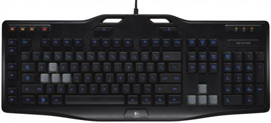 Клавиатура Logitech G105 USB черный 920-005056 logitech g105 920 005056