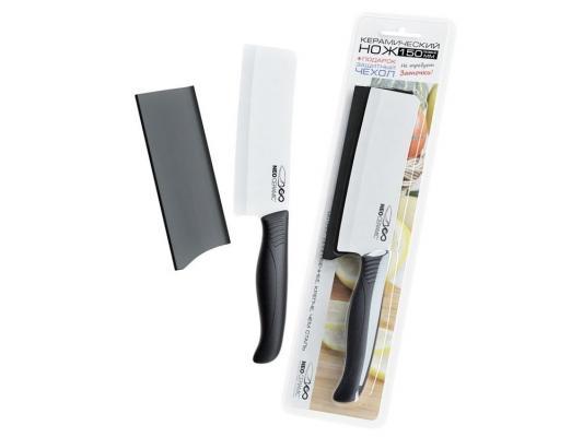 Керамический нож Neo Ceramic NC-15 Топорик с лезвием из белой керамики 150 мм (черная рукоятка А08)