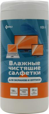 Влажные салфетки Kreolz NBT-1 100 шт влажные салфетки fellowes fs 99703 100 шт