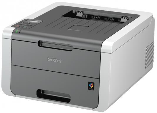 цена на Принтер цветной светодиодный Brother HL-3140CW A4, 16/16стр/мин, 64Мб, USB, WiFi (замена HL-3040CN)