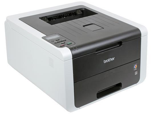 Принтер цветной светодиодный Brother HL-3170CDW A4, 22/22стр/мин, 128Мб, дуплекс, USB, LAN, WiFi цена 2017