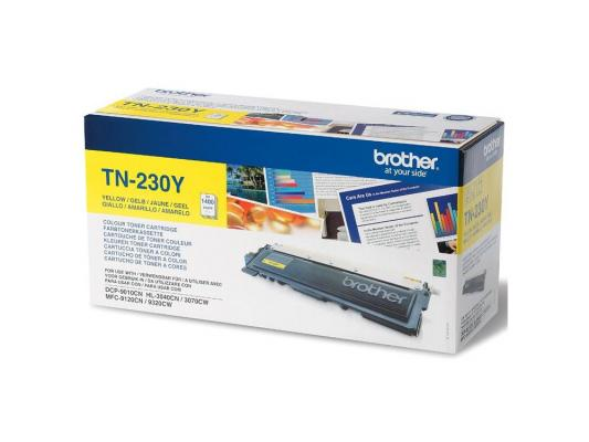Лазерный картридж Brother TN-230Y желтый для HL3040 DCP9010CN MFC9120CN лазерный картридж brother tn 230c голубой для hl3040 dcp9010cn mfc9120cn
