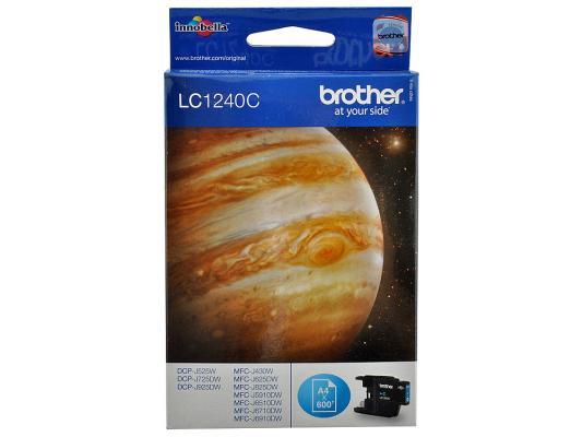 Струйный картридж Brother LC1240C голубой для MFC-J6510 6910DW картридж brother lc563c голубой картридж струйный стандартная голубой