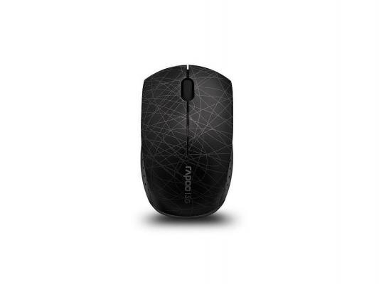 Мышь Rapoo 3300p черная беспроводная оптическая с USB-адаптером Mini, миниатюрная, 5Ghz беспроводная оптическая мышь rapoo 3520p
