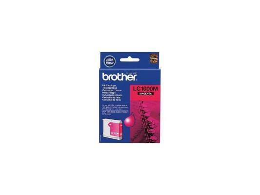 Картридж струйный Brother LC1000M картридж струйный brother lc663bk