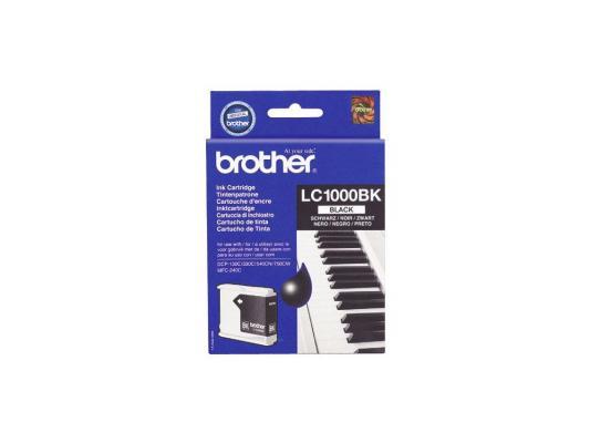 Картридж струйный Brother LC1000BK тонер картридж brother lc1000bk