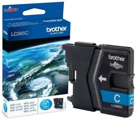 Картридж струйный Brother LC985C картридж струйный brother lc980c